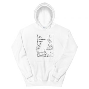 Unisex Hoodie / I'm relaxing. Fuck off.