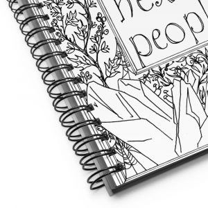 Spiral notebook / Just gonna start hexing people.